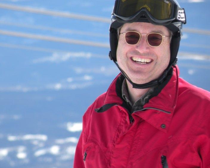 tandläkare på fritiden, porträtt från slalombacken